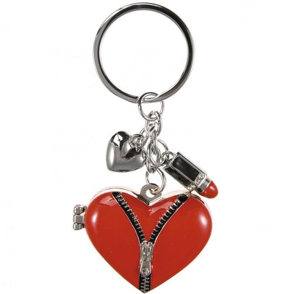 Schlüsselanhänger Herz mit Portraitfach