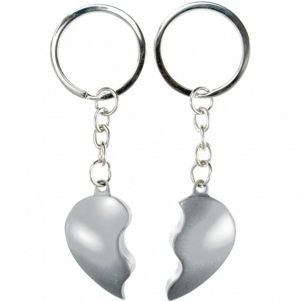 Schlüsselanhänger Broken Heart Silberfarben