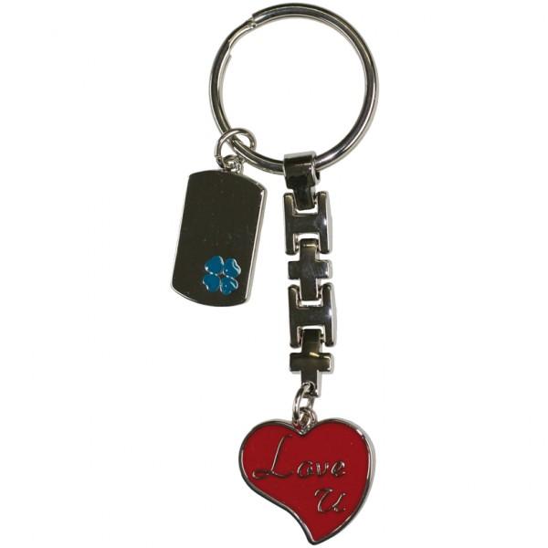Schlüsselanhänger Love U + Kleeblatt