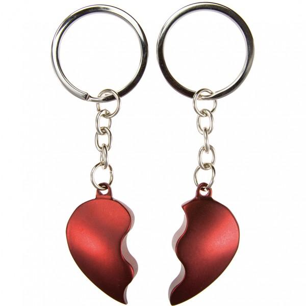 Schlüsselanhänger Broken Heart Rot